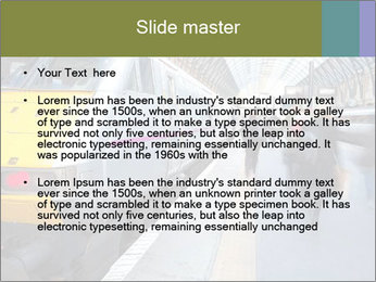 Urban Railway Station PowerPoint Template - Slide 2