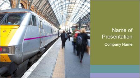 Urban Railway Station PowerPoint Template