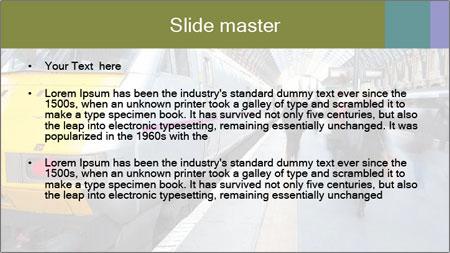 Urban Railway Station PowerPoint Template - Slide 2