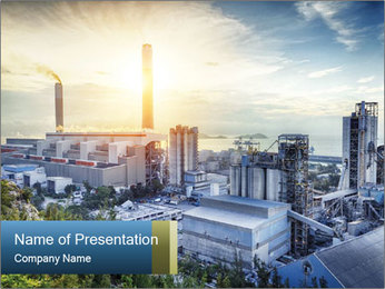 Industrial City PowerPoint Templates - Slide 1