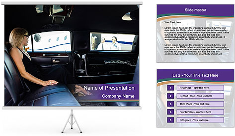 Lady In Limo PowerPoint Template