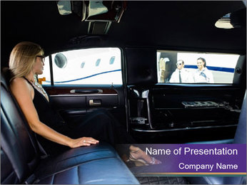 Lady In Limo PowerPoint Templates - Slide 1