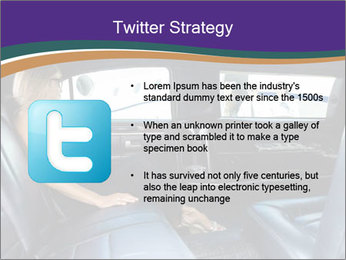 Lady In Limo PowerPoint Templates - Slide 9