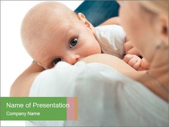 Sweet Breastfeeding Moment PowerPoint Template - Slide 1