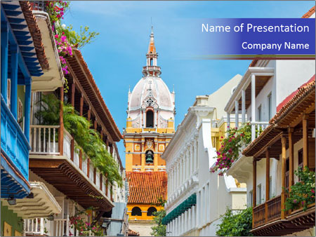 Spanish Architecture PowerPoint Template