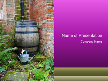 Barrel In Backyard PowerPoint Templates - Slide 1