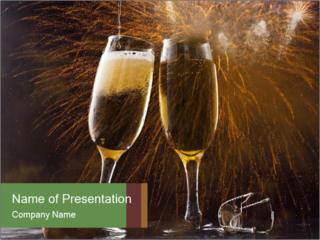 Romantic Evening With Champagne PowerPoint Templates