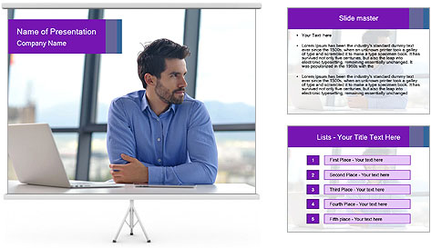 Successful And Handsome Businessman PowerPoint Template