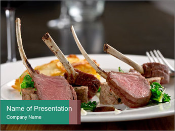 Tasty Ribs PowerPoint Template - Slide 1
