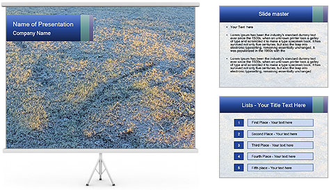 Winter Frosty Morning PowerPoint Template