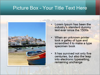 Mediterranean Coast During Sunset PowerPoint Template - Slide 13