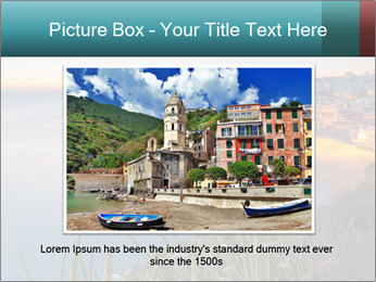 Mediterranean Coast During Sunset PowerPoint Template - Slide 15