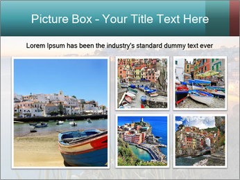 Mediterranean Coast During Sunset PowerPoint Template - Slide 19