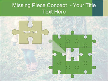 Small Girl In Forest PowerPoint Template - Slide 45