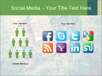 Small Girl In Forest PowerPoint Template - Slide 5