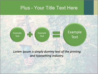 Small Girl In Forest PowerPoint Template - Slide 75