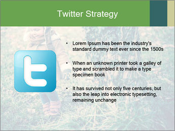 Small Girl In Forest PowerPoint Template - Slide 9