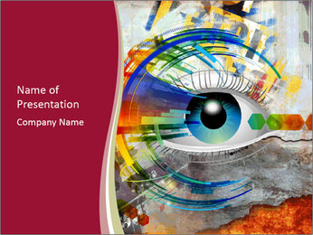 Abstract Eye PowerPoint Template - Slide 1