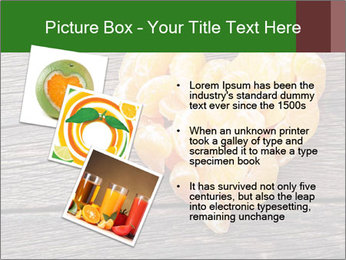 Slices of tangerine in the shape of hearts PowerPoint Template - Slide 17