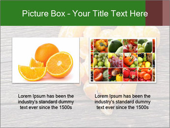 Slices of tangerine in the shape of hearts PowerPoint Template - Slide 18