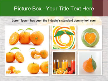 Slices of tangerine in the shape of hearts PowerPoint Template - Slide 19