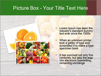 Slices of tangerine in the shape of hearts PowerPoint Template - Slide 20