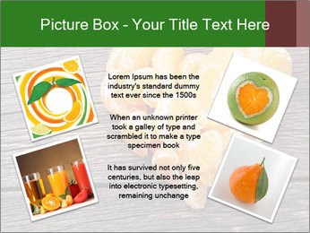 Slices of tangerine in the shape of hearts PowerPoint Template - Slide 24