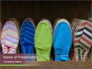 Colorful espadrilles for sale PowerPoint Templates