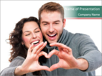 Happy Valentines Day PowerPoint Template - Slide 1
