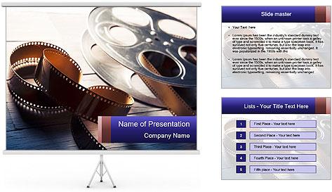 Movie reel PowerPoint Template