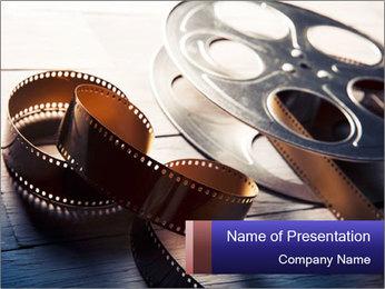 Movie reel PowerPoint Template - Slide 1