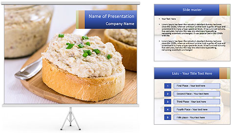 Slice of toasted PowerPoint Template