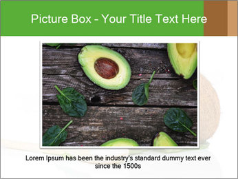 Coconut with green leaf and wooden spoon PowerPoint Template - Slide 15