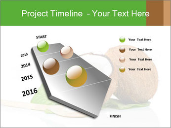 Coconut with green leaf and wooden spoon PowerPoint Template - Slide 26