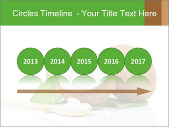 Coconut with green leaf and wooden spoon PowerPoint Template - Slide 29