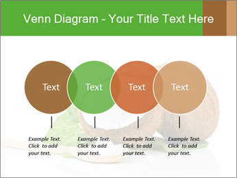 Coconut with green leaf and wooden spoon PowerPoint Template - Slide 32