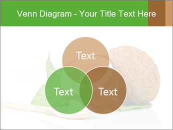 Coconut with green leaf and wooden spoon PowerPoint Template - Slide 33