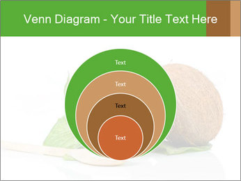 Coconut with green leaf and wooden spoon PowerPoint Template - Slide 34