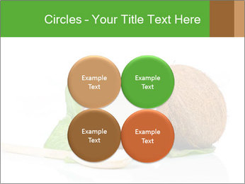 Coconut with green leaf and wooden spoon PowerPoint Template - Slide 38