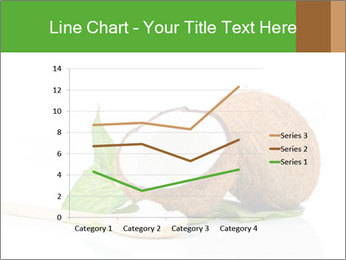 Coconut with green leaf and wooden spoon PowerPoint Templates - Slide 54