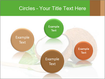 Coconut with green leaf and wooden spoon PowerPoint Template - Slide 77