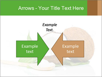 Coconut with green leaf and wooden spoon PowerPoint Templates - Slide 90