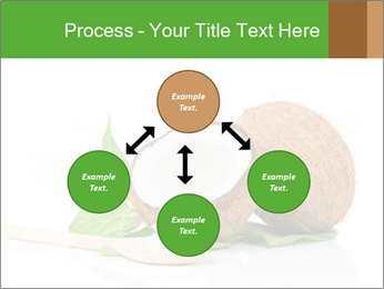 Coconut with green leaf and wooden spoon PowerPoint Template - Slide 91