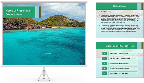 Crystal clear sea PowerPoint Template