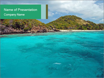 Crystal clear sea PowerPoint Template - Slide 1