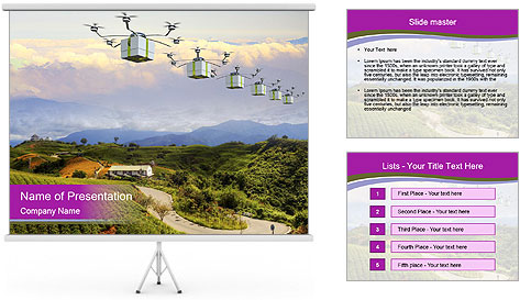 Fast delivery post package PowerPoint Template
