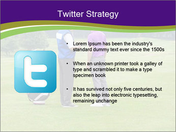 Caddy pointing out a hazard to the golfer PowerPoint Template - Slide 9