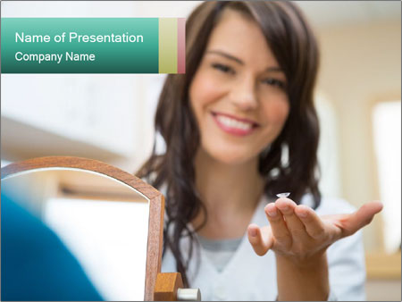 Portrait of young female PowerPoint Templates