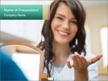 Portrait of young female PowerPoint Template