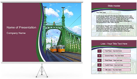 Bridge Budapest PowerPoint Template